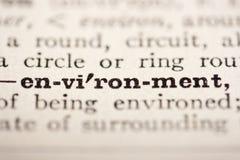 Word environment Royalty Free Stock Image