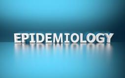 Word Epidemiologie die van witte brieven wordt gemaakt stock illustratie