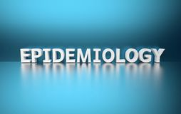 Word Epidemiology made of white letters stock illustration