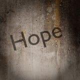 Word 'espoir' sur le mur grunge illustration stock