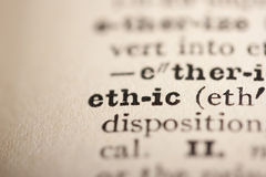 Word ethic Stock Images