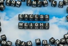 The word excess weight Stock Photos