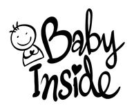 Word expression for baby inside Royalty Free Stock Photos