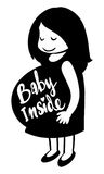 Word expression for baby inside Royalty Free Stock Photo