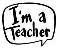 Word expression for I am a teacher Royalty Free Stock Images