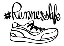 Word expression for runnerslife Stock Photography