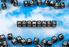 The word face Hormones Stock Images