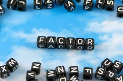The word factor stock image