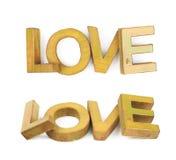 Word a fait des lettres en bois d'isolement Photographie stock
