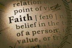 Word faith and compass Stock Image