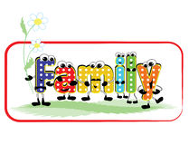 Word Family Stock Photography