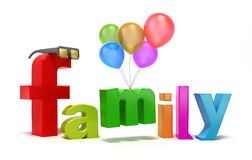 Word family with colourful letters. Royalty Free Stock Image