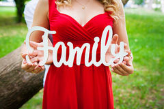 The word Family Royalty Free Stock Image
