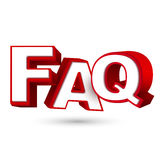 Word FAQ in red letters Royalty Free Stock Images