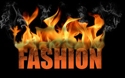 Word Fashion in Flame Text Royalty Free Stock Image