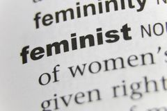 The Word Feminist Close Up.  royalty free stock image