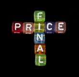 Word Final price Stock Images