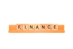 Word finance Stock Photography