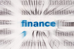 Word finance. The word finance in dictionary Royalty Free Stock Photography