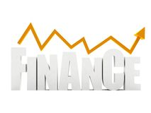 Word 'finance' isolated Stock Image