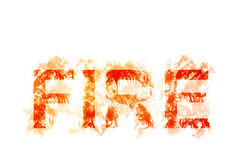 The word `FIRE` illustration stylized with smoke Royalty Free Stock Images