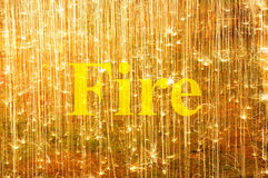 Word FIRE (uppercase) on background Royalty Free Stock Photography