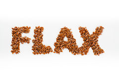 Word flax Stock Photo