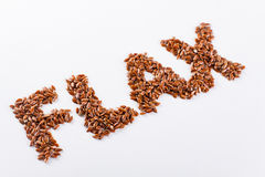 Word flax Stock Photo