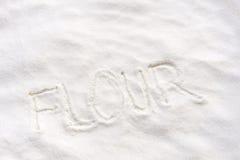 Word flour Royalty Free Stock Photo