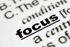 Word focus in a text Stock Photos