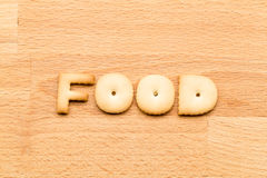Word food cookie Royalty Free Stock Photography