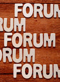 The word forum Stock Photos