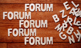 The word forum Royalty Free Stock Photos