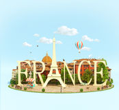 Word France on the square Stock Photo