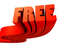Word Free. 3d design of an word and very much colorful Royalty Free Stock Photography