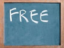 The word free written on a blackboard Stock Photo