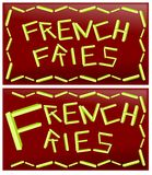 Word french fries Stock Photos
