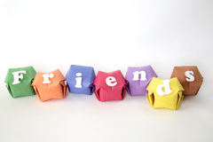 Word friends Stock Photos