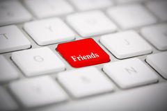 The word FRIENDS  Royalty Free Stock Photo