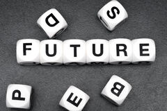 Word future on toy cubes Royalty Free Stock Image