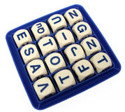 Word Game. Dice all ready to play word game stock image