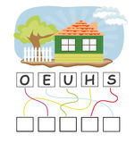 Word Game With House Royalty Free Stock Image