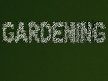 The word Gardening written with flowers Royalty Free Stock Photography