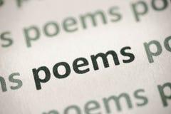 Word gedichten op document macro worden gedrukt die stock foto