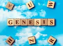 The word Genesis Stock Photo
