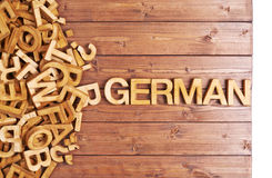 Word german made with wooden letters Royalty Free Stock Photography