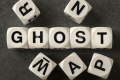 Word ghost on toy cubes Stock Image