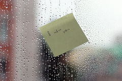Word on the glass with drops Royalty Free Stock Photos