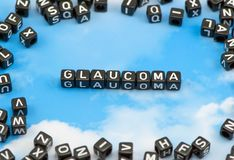The word Glaucoma Royalty Free Stock Photography