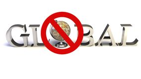 Word Global with 3D globe Royalty Free Stock Photos